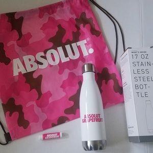 Absolute Bags - Absolut Bundle Pink 4 Items New Backpack Bottle